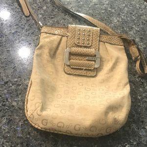 Beige Guess Crossbody Bag